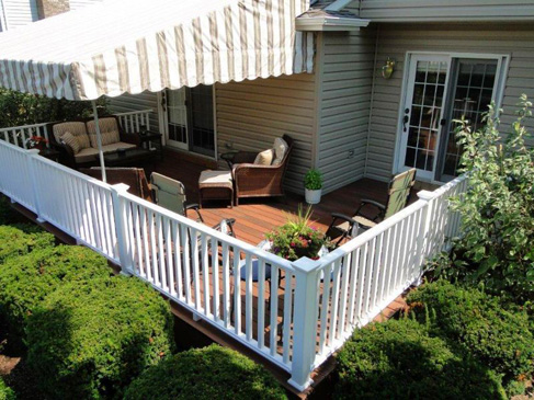 Tops Roofing & Remodeling built this beautiful maintenance-free deck.  They used PVC deck products that offer great looks and durability for many years of outside enjoyment.